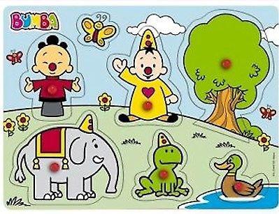 Puzzel Bumba De Natuur Knopjes Hout (PUZZ340110)