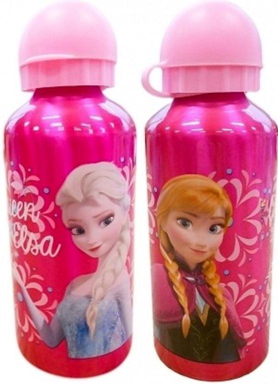 Bidon Frozen Alu Elsa & Anna Donkerroze 500Ml