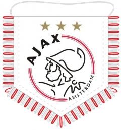 Banier Ajax Logo met 3 Sterren
