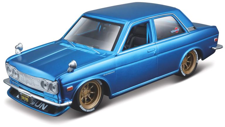 Datsun 510 1971 BLAUW (MAISTO 1:24)