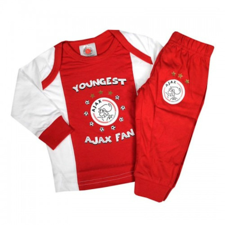 Baby Pyjama Ajax Rood/Wit Youngest Fan 74/80