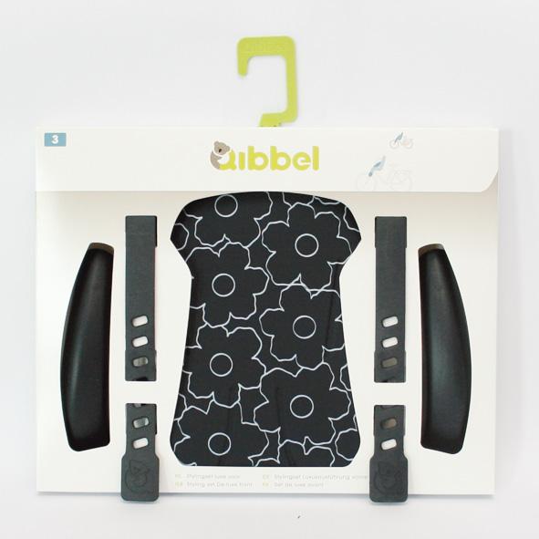 Qibbel stylingset achterzitje HRD zwart