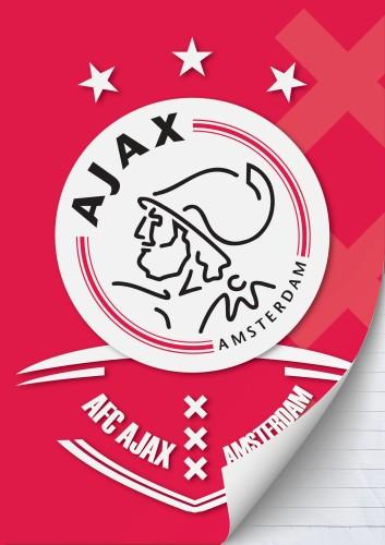 Schrift Ajax AFC A4 gelijnd (023072)