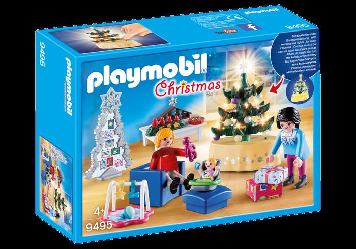 Woonkamer in kerststijl Playmobil (9495)