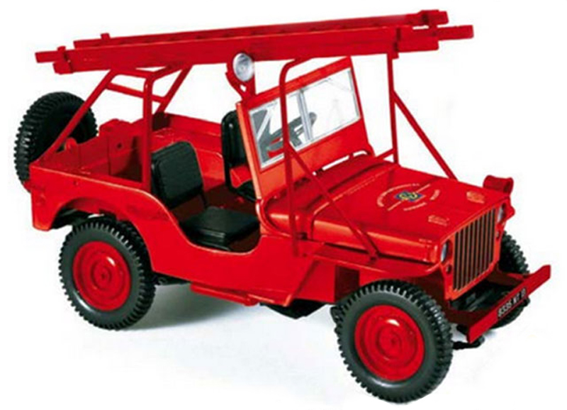 JEEP WILLYS FIRE DEPARTMENT VEHICLE 1988 (1:18) NOREV