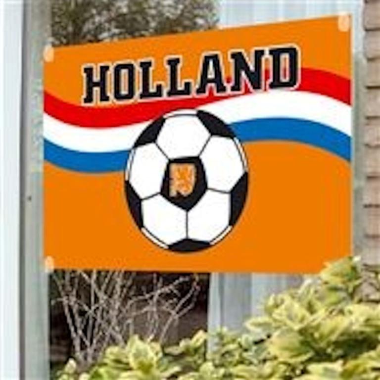 Vlag Holland Voetbal & Bal Zuignappen