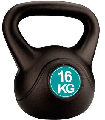 Avento Kettle Bell Plastic/Cement 16 kg Halter