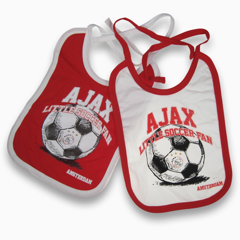 Baby Slabbetjes 2-Pack Ajax Little Soccer Fan