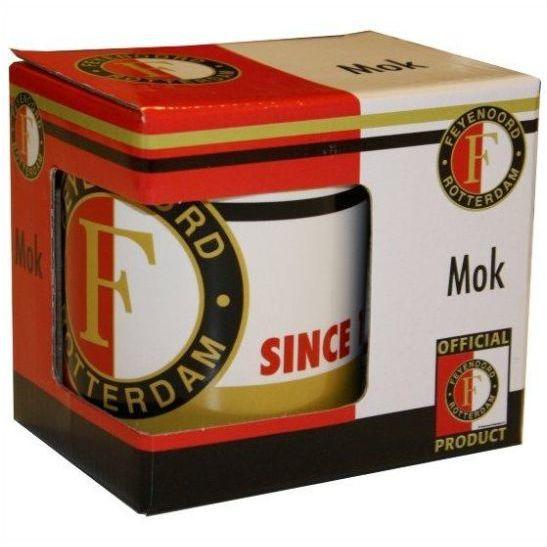 Mok Since 1908 Feyenoord Wit/Rood 1-Pack Kadodoosje