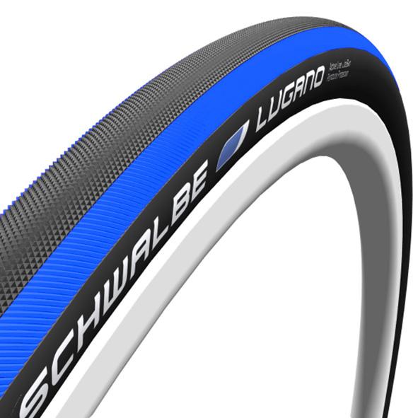 Schwalbe buitenband 700x23 Lugano blauw