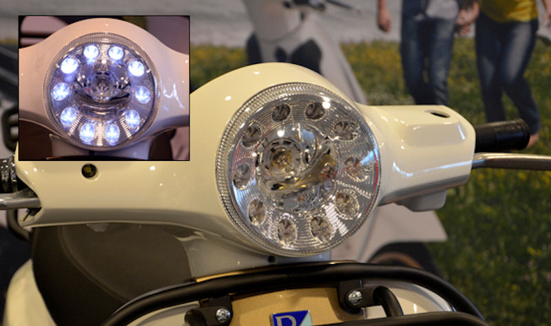 koplamp led vespa lx DMP