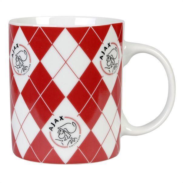 Ajax Mok Rood Wit Ruitjes (MOK0101280)