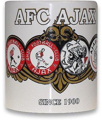 Ajax Mok Wit 4-Logo`s