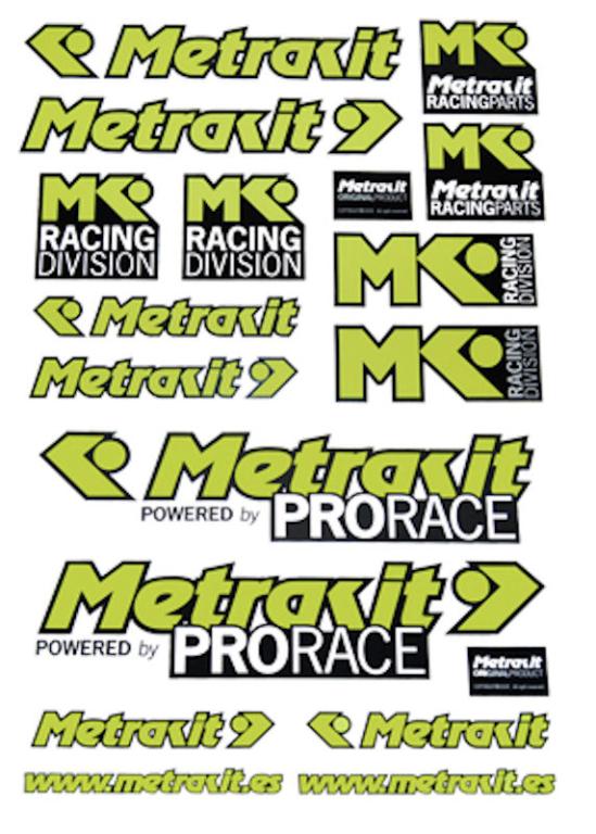 stickerset univ geel/zwart metrakit pro race 98027033
