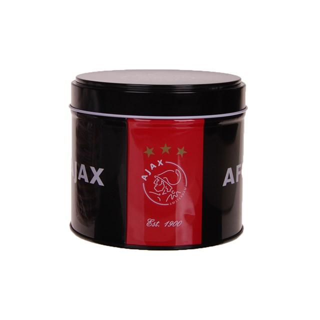 Blik Ajax rood/zwart: stroopwafels