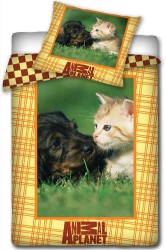 Dekbed Animal Planet Hond Kat 140 x 200 cm