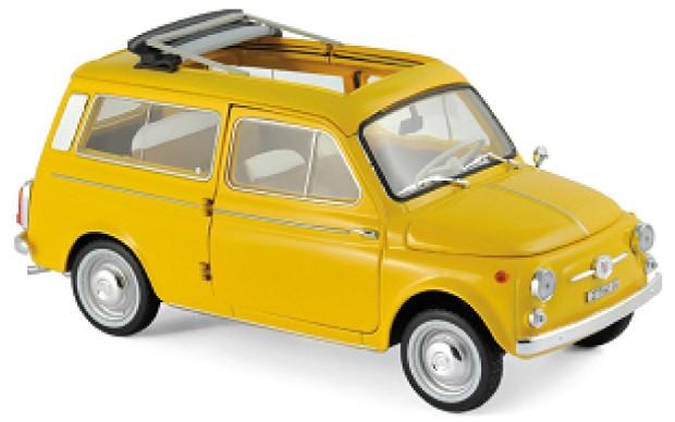 Fiat 500 GIARDINIERA 1968 (GEEL) (1:18)