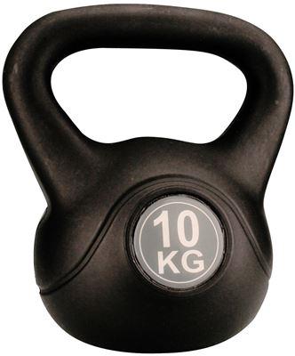 Avento Kettle Bell Plastic/Cement 10 kg Halter