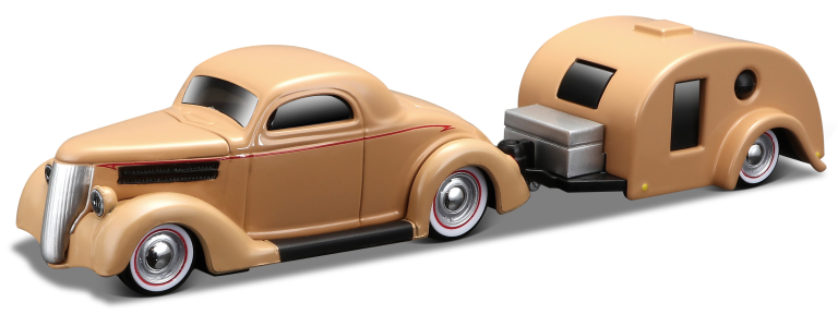 FORD COUPE TRAVELER TRAILER 1936 TOW-GO (1:64)