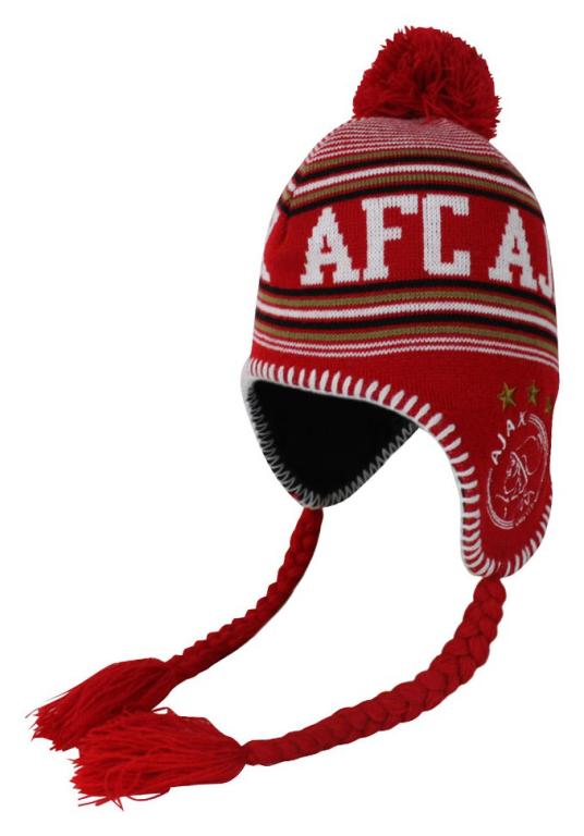 Ajax Muts Junior Flappen 3 Sterren Rood/Wit (MUTS010716)