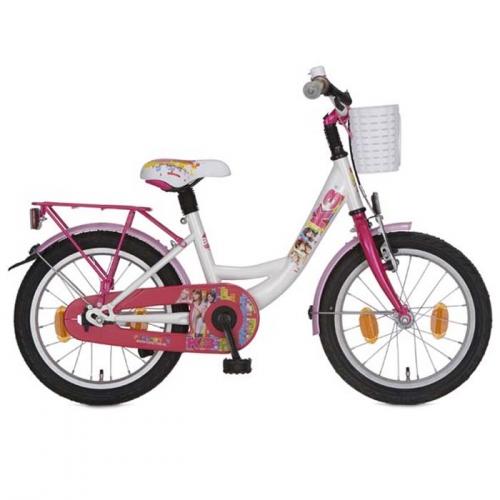 K3 fiets Regenboog 16 M wit