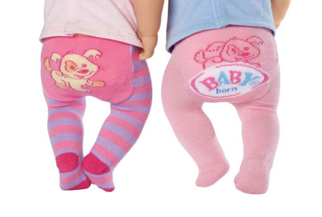 Maillots Baby Born 2-pack Roze/Paars Streep