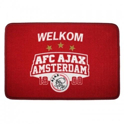 Deurmat Ajax Rood/Wit 1900