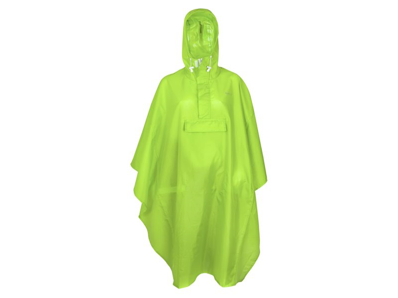 PONCHO BASIC LIME ONE SIZE
