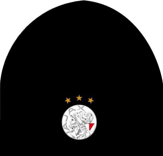 Muts Ajax senior zwart oude logo
