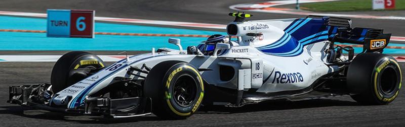 WILLIAMS MARTINI Mercedes Benz FW40 F1 #18 LANCE STROLL ABU DHABI GP 2017 MINICHAMPS (1:18)