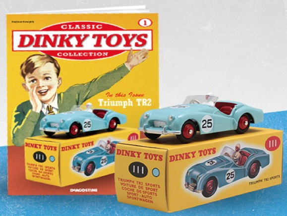 Triumph TR2 -25 (I:43) DINKY TOYS