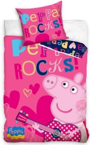 Dekbed Peppa Pig rocks (PP7001)140x200/70x80 cm