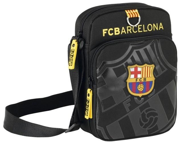 Schoudertas Barcelona Black/silver 22x16 cm