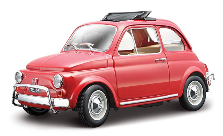 FIAT 500L 1968 ROOD BBURAGO (1:24)
