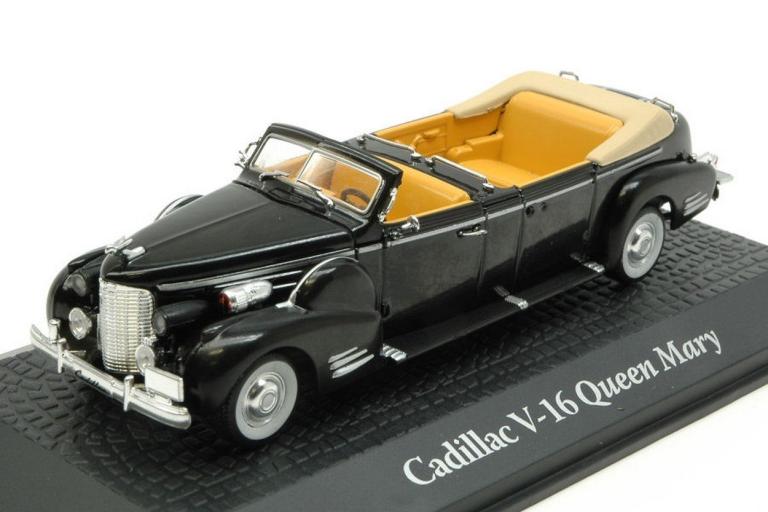 Cadillac V-16 Queen Mary Harry Truman 1948 Black 1:43 Model ATLAS