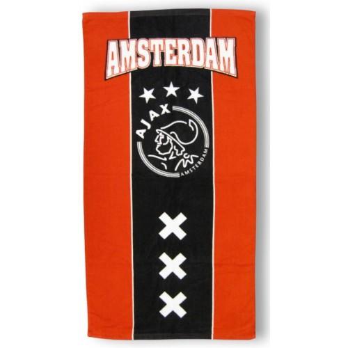 Ajax Handdoek Rood/Zwart 50x100cm