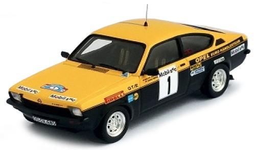 Opel KADETT GT-E1 ROHRL-MENNE 3rd WESTFALEN-LIPPE 1977 (1:43) (geel/zwart) TROFEU