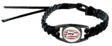 Armbandje PSV Zwart Leder