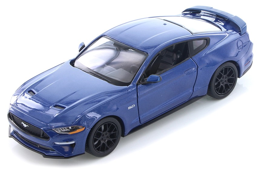 Ford MUSTANG 2018 BLAUW (1:24) MOTORMAX
