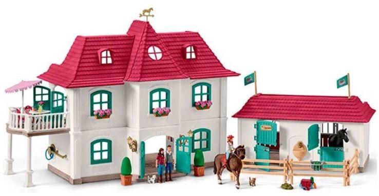 Groot huis met Paardenbox Schleich (42416)