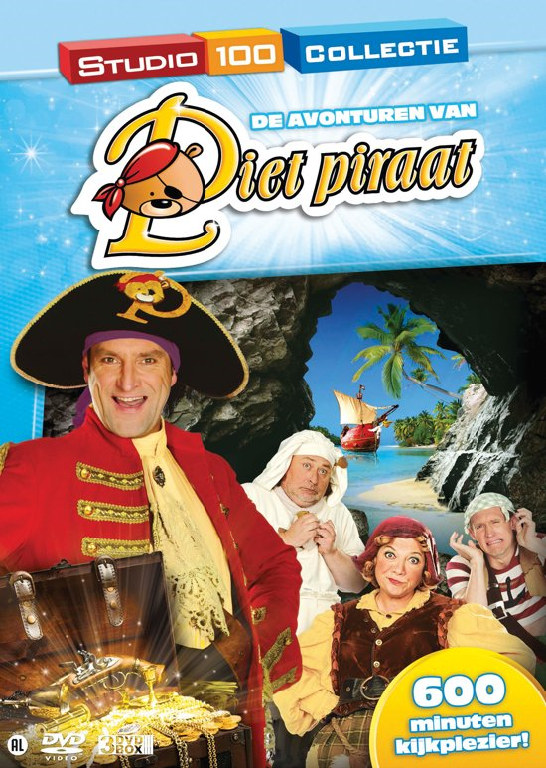 Dvd box Piet Piraat Avonturen 3 -Pack (3DVD)