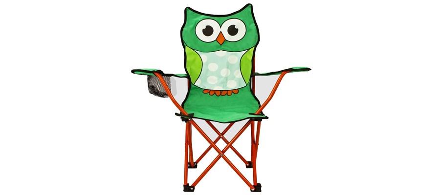 Vouw Kinderstoel Vouwstoel Junior Animal Comic Groen/oranje