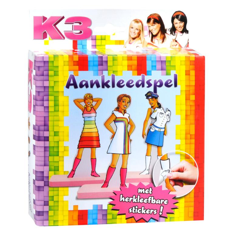 Aankleedspel + Herkleefbare Stickers K3