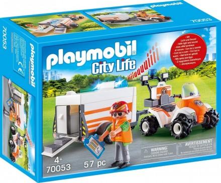 Eerste hulp quad met trailer Playmobil (70053)