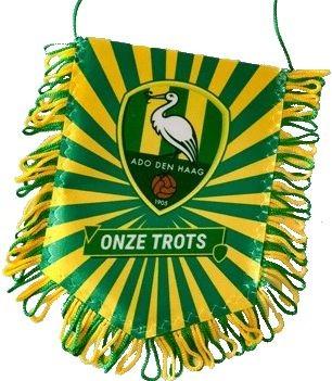 Banier ADO geel-groen trots