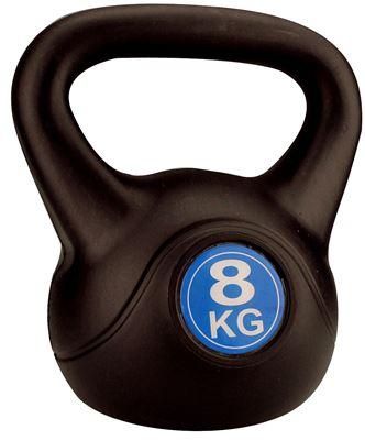 Avento Kettle Bell Plastic/Cement 8 kg Halter