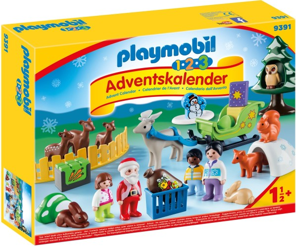 1.2.3 Adventskalender Kerst in dierenbos Playmobil (9391)