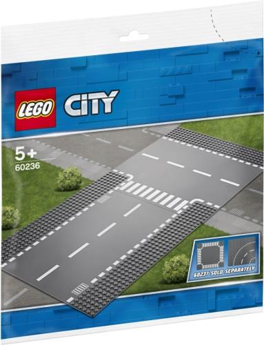 Rechte wegenplaten en T-kruising Lego (60236)
