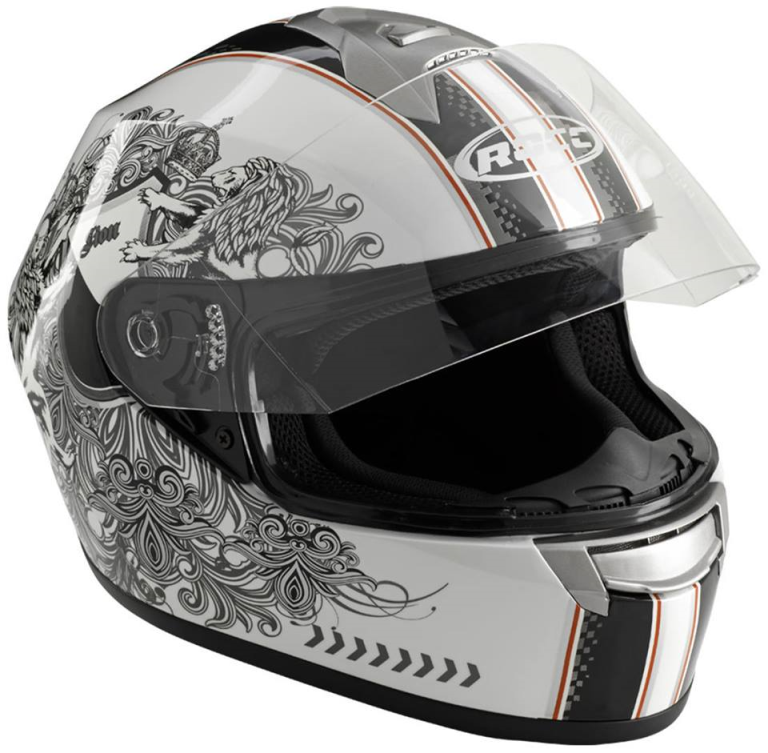 ROCC HELM 361 WHITE/BLACK/BLANK