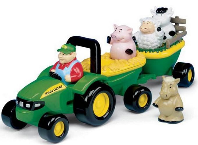 Muzikale tractor met aanhanger en dieren Britains (42947)